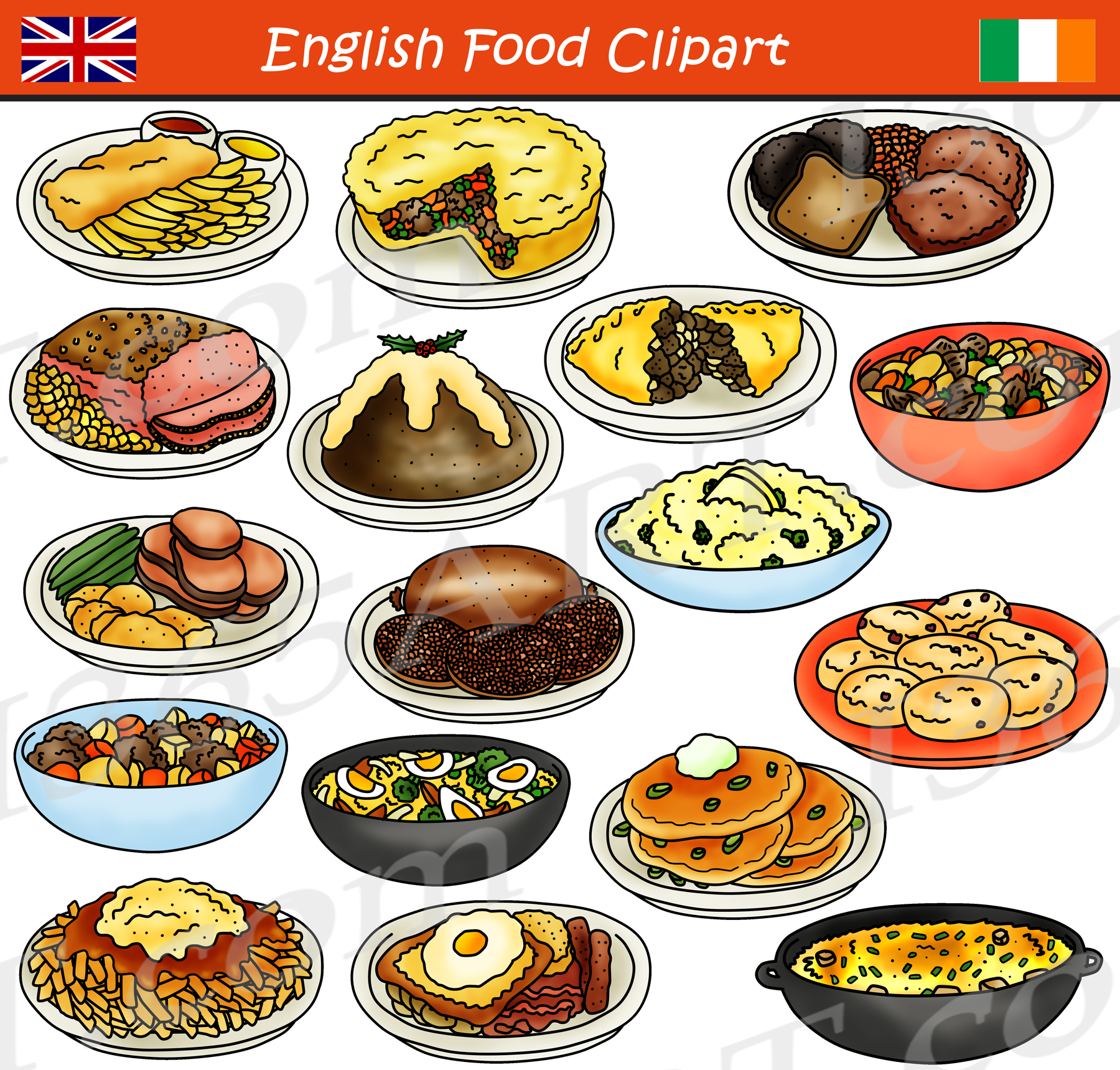 British Food Clipart.