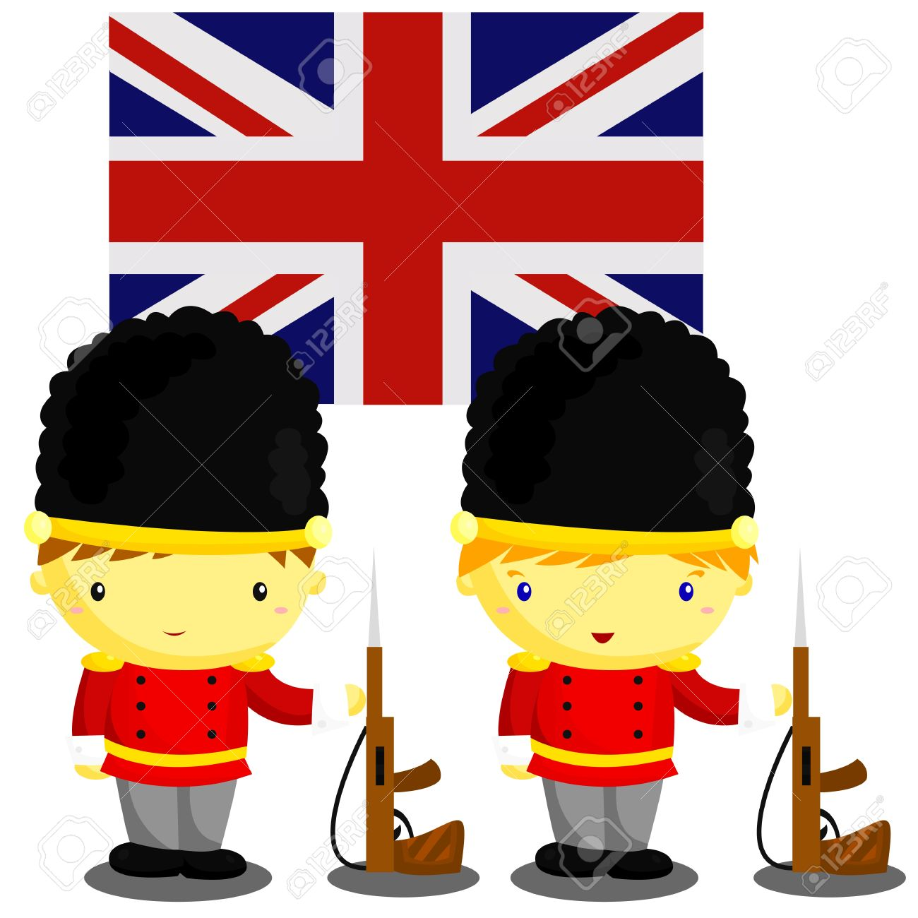 British soldiers clipart.