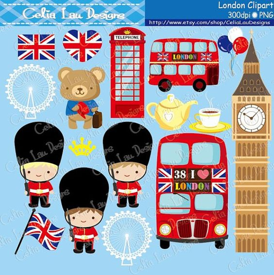 London clipart , London England British Clip art , Great Britian.