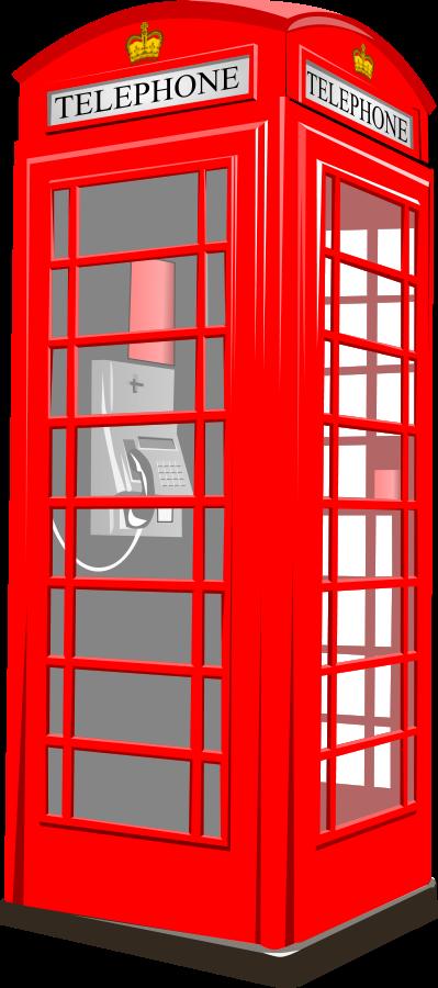 British Phone Booth 2 medium 600pixel clipart, vector clip art.