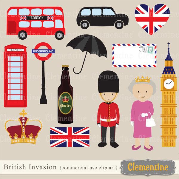 London clip art, London clipart, crown clip art images, British.