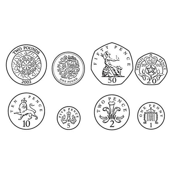 British coins clipart 9 » Clipart Station.