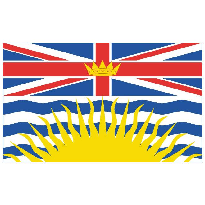 BRITISH COLUMBIA VECTOR FLAG.