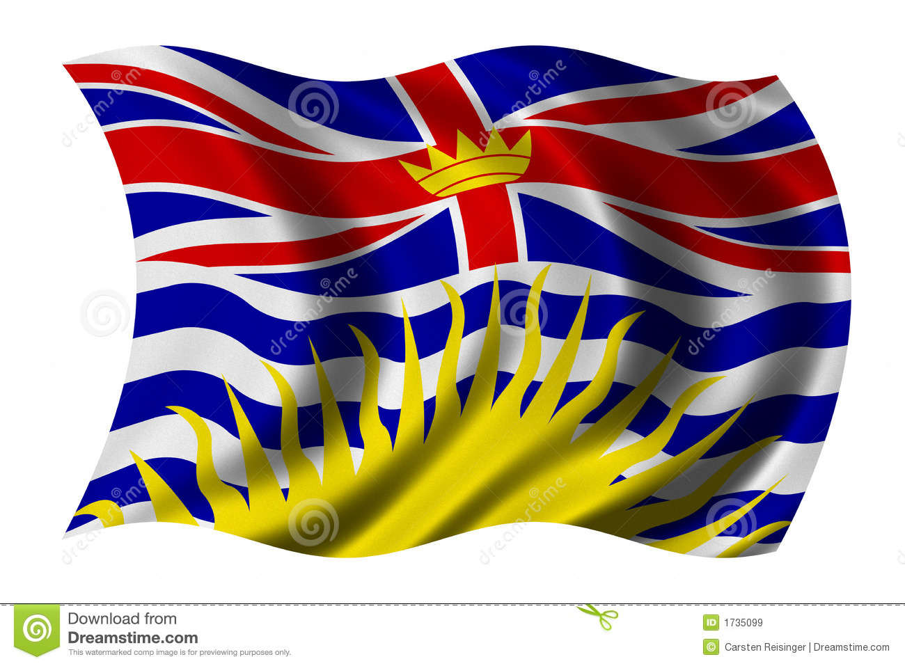 British Columbia Flag Royalty Free Stock Images.