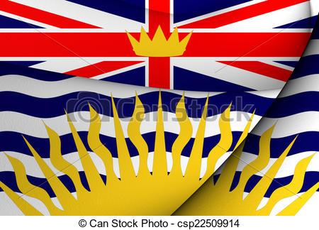 Clipart of Flag of British Columbia, Canada. Close Up. csp22509914.