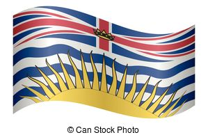 Clipart Vector of Flag of British Columbia.