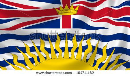 British Columbia Flag Stock Photos, Royalty.