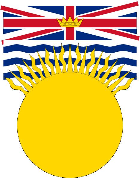 Flag Of British Columbia Canada clip art Free Vector / 4Vector.