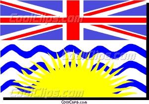 Flag of British Columbia Vector Clip art.