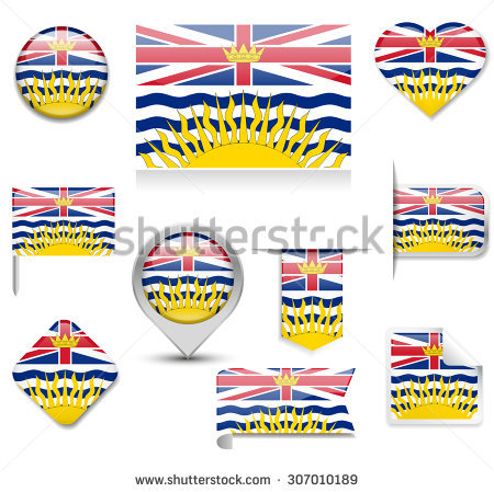 British Columbia Flag Stock Photos, Royalty.