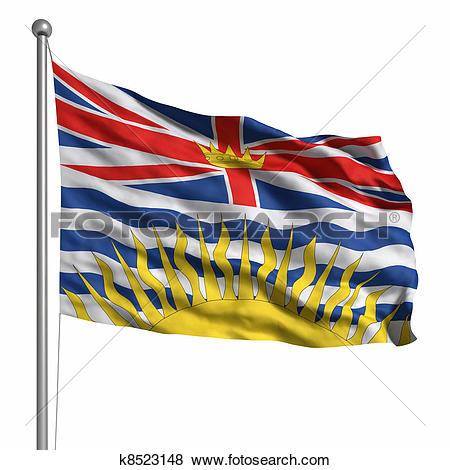 Stock Illustration of Flag of British Columbia k8523148.