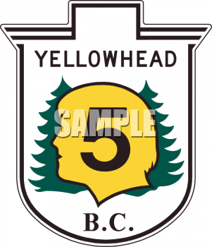 Yellowhead Park Road Marker British Columbia.