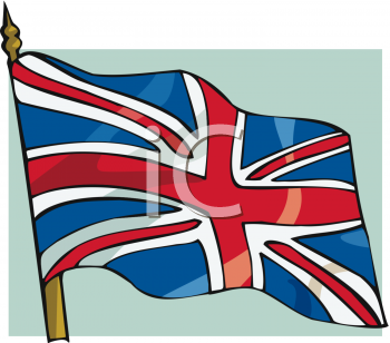 British flag clipart #7