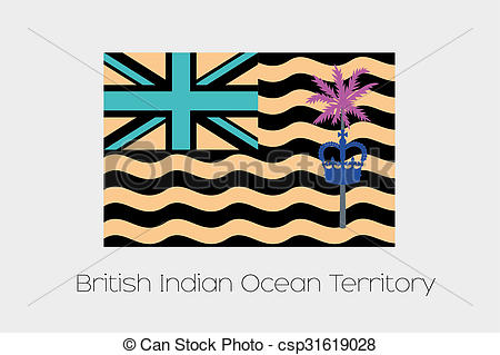 Clip Art of Inverted Flag of British Indian Ocean Territory.