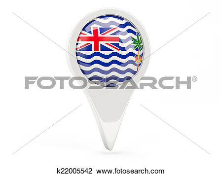 Clip Art of Round flag icon of british indian ocean territory.