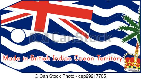 Vector Clipart of vector illustration of British Indian Ocean.