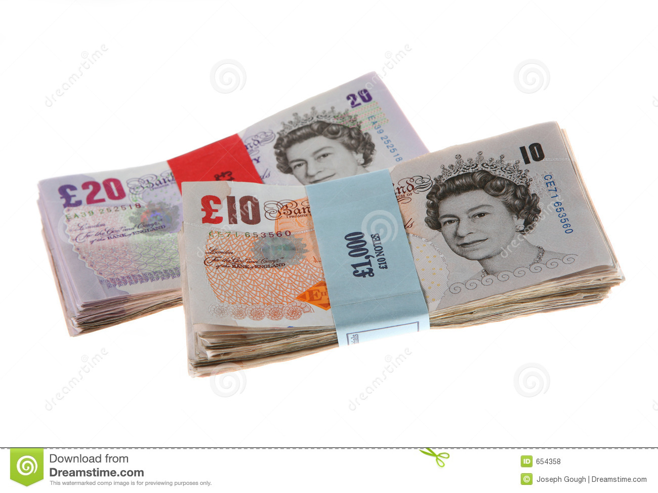 British Money Background Pound Notes Editorial Stock Photo.
