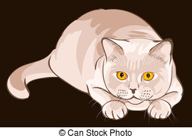 British shorthair cat Clipart Vector and Illustration. 34 British.