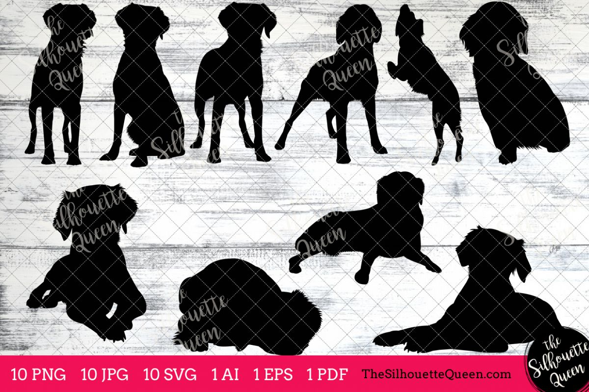 Brittany Spaniel Dog Silhouettes Clipart Clip Art (AI, EPS, SVGs, JPGs,  PNGs, PDF) , Spaniel Dog Vectors.
