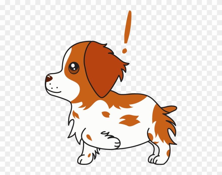 Honey The Brittany Spaniel Messages Sticker.