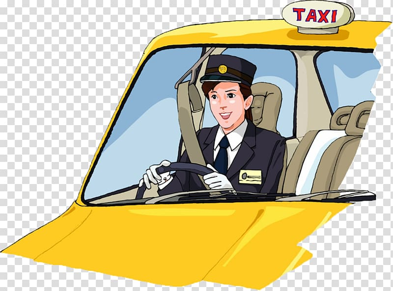 Taxi driver , taxi driver transparent background PNG clipart.