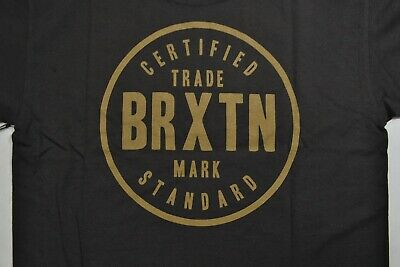 BRIXTON COWEN WASHED Black Sand Screenprint Logo S/S.