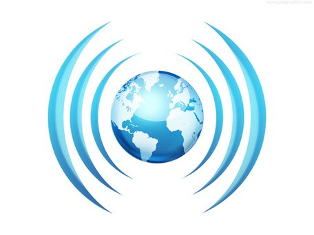 Worldwide broadcasting icon (PSD) Clipart Picture.