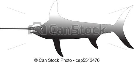 Clip Art Vector of swordfish vector csp5513476.