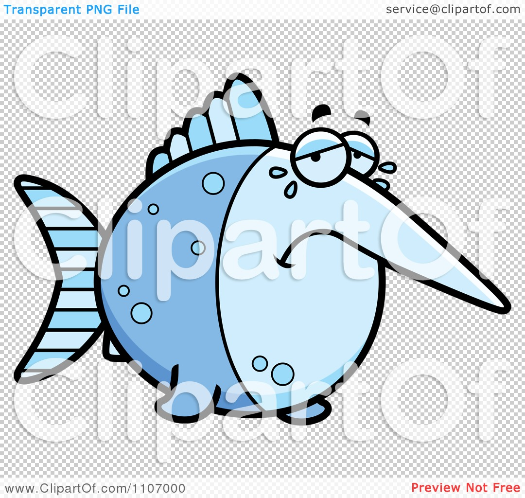 Clipart Crying Swordfish.
