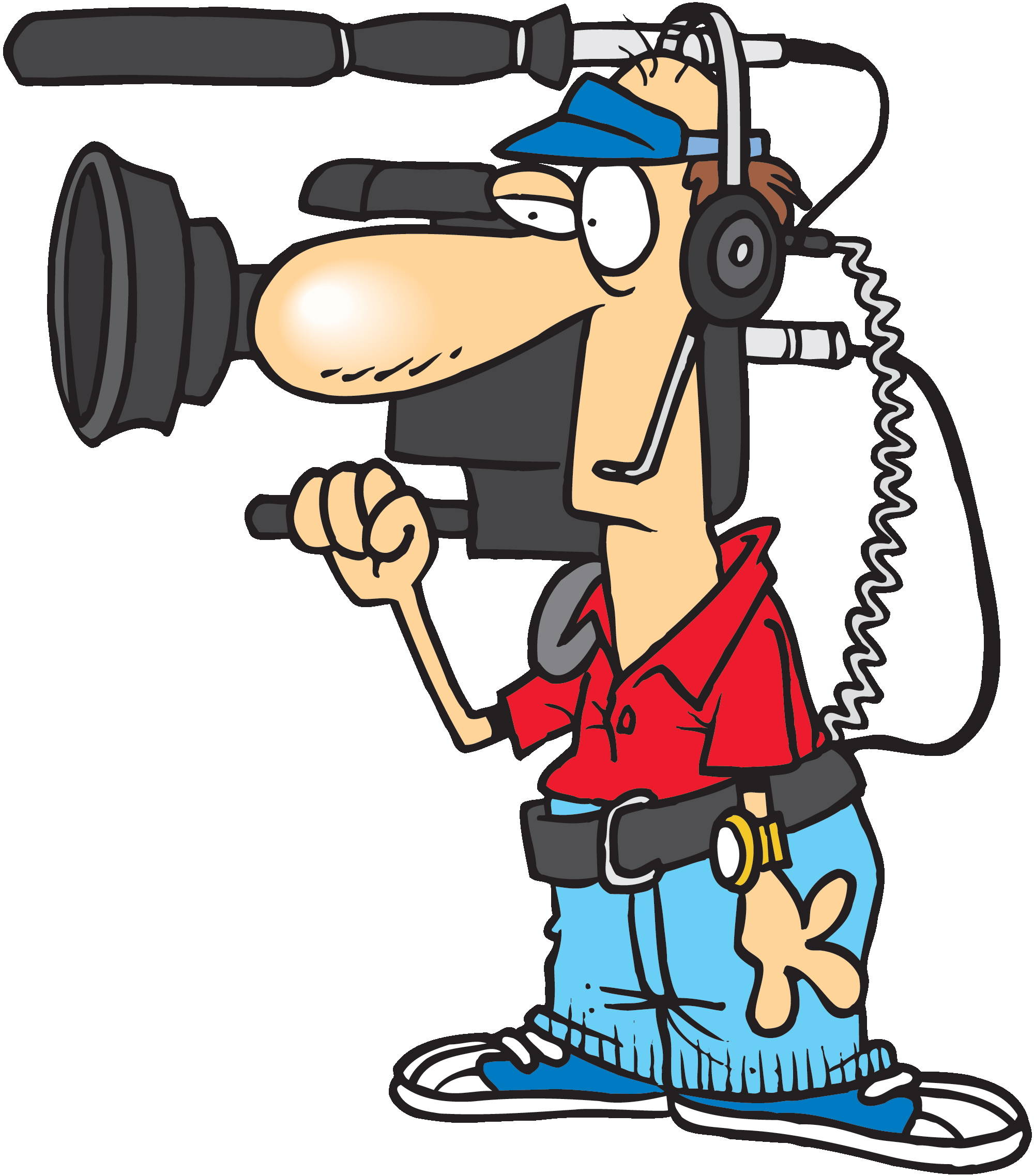 News broadcast clipart.