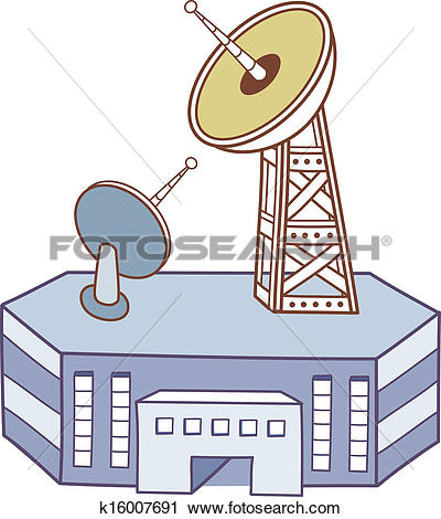 Clip Art of A broadcasting station k16307777.