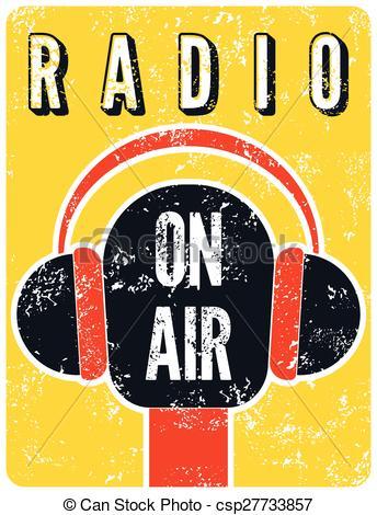 Radio broadcast clipart.