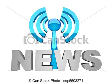 Clipart of News broadcast.