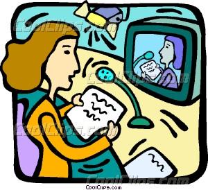 news broadcast Vector Clip art.