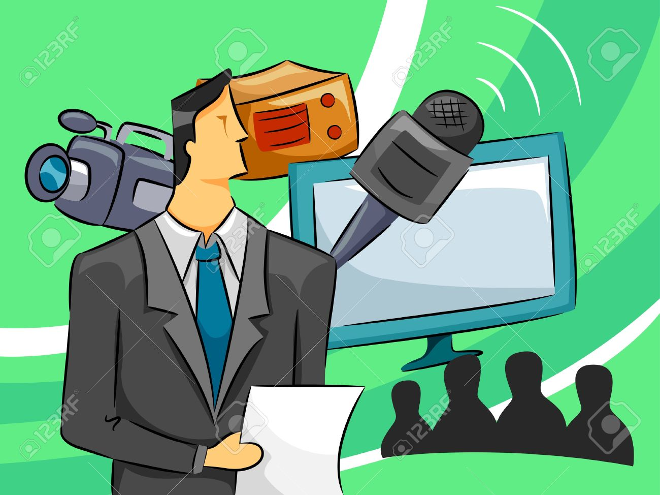 Tv broadcasting clipart.