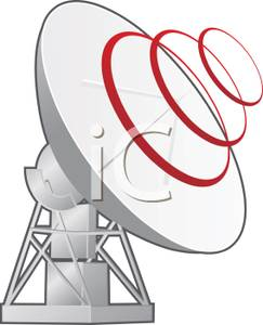 Rings Broadcasting From a Satellite.