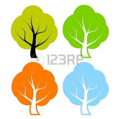 Broad Leaved Trees Stock Vector Illustration And Royalty Free.