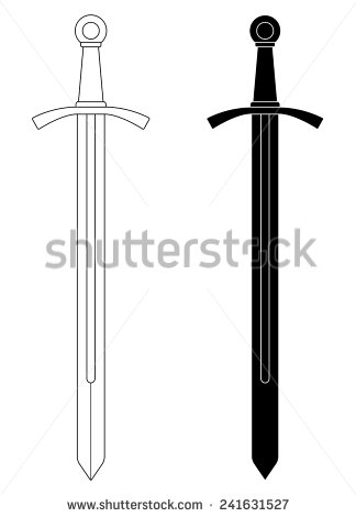 Knights black sword clipart.
