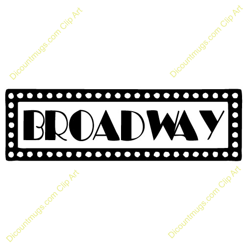 Broadway Marquee Lights Clipart.