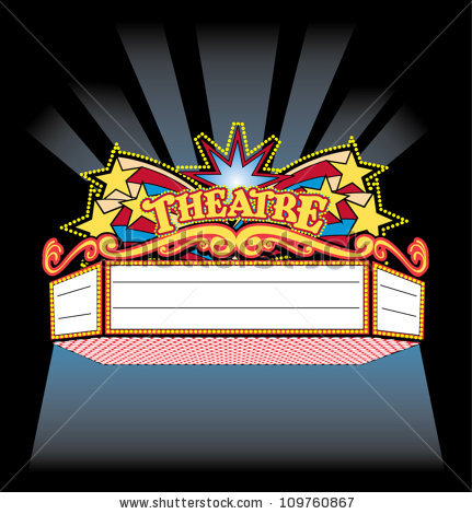 Movie theater marquee clip art
