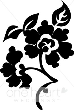 Brocade Flower Clipart.