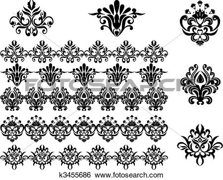 Brocade Clip Art and Illustration. 2,053 brocade clipart vector.