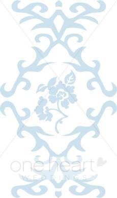 Blue Brocade Clipart.