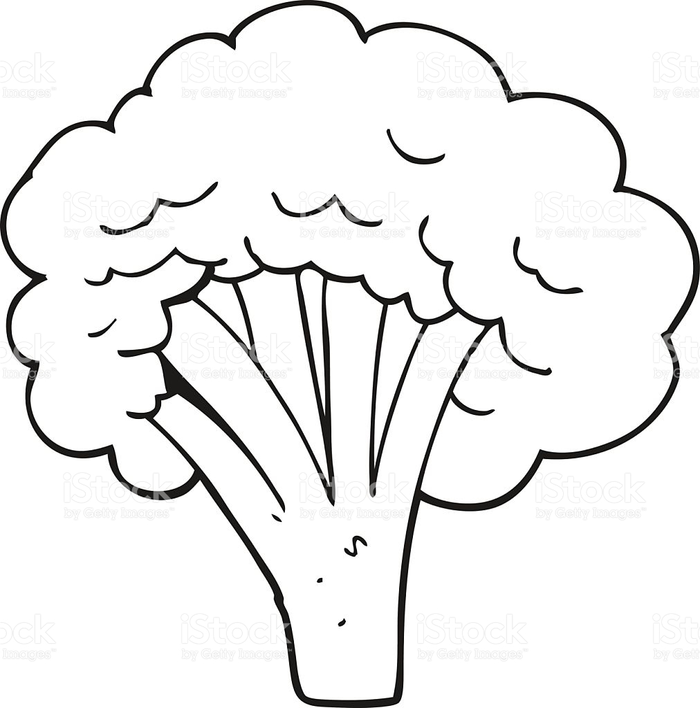 Broccoli clipart black and white » Clipart Station.