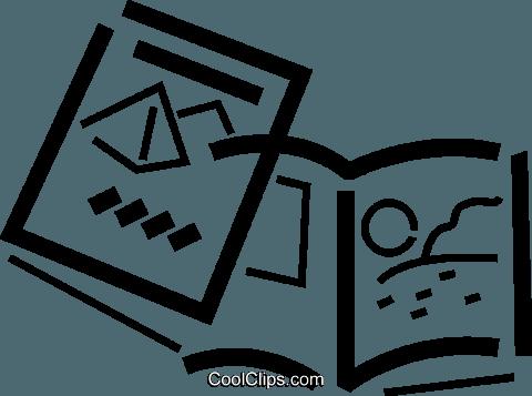 travel brochure Royalty Free Vector Clip Art illustration.