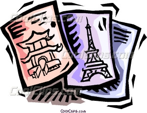 travel brochures Vector Clip art.