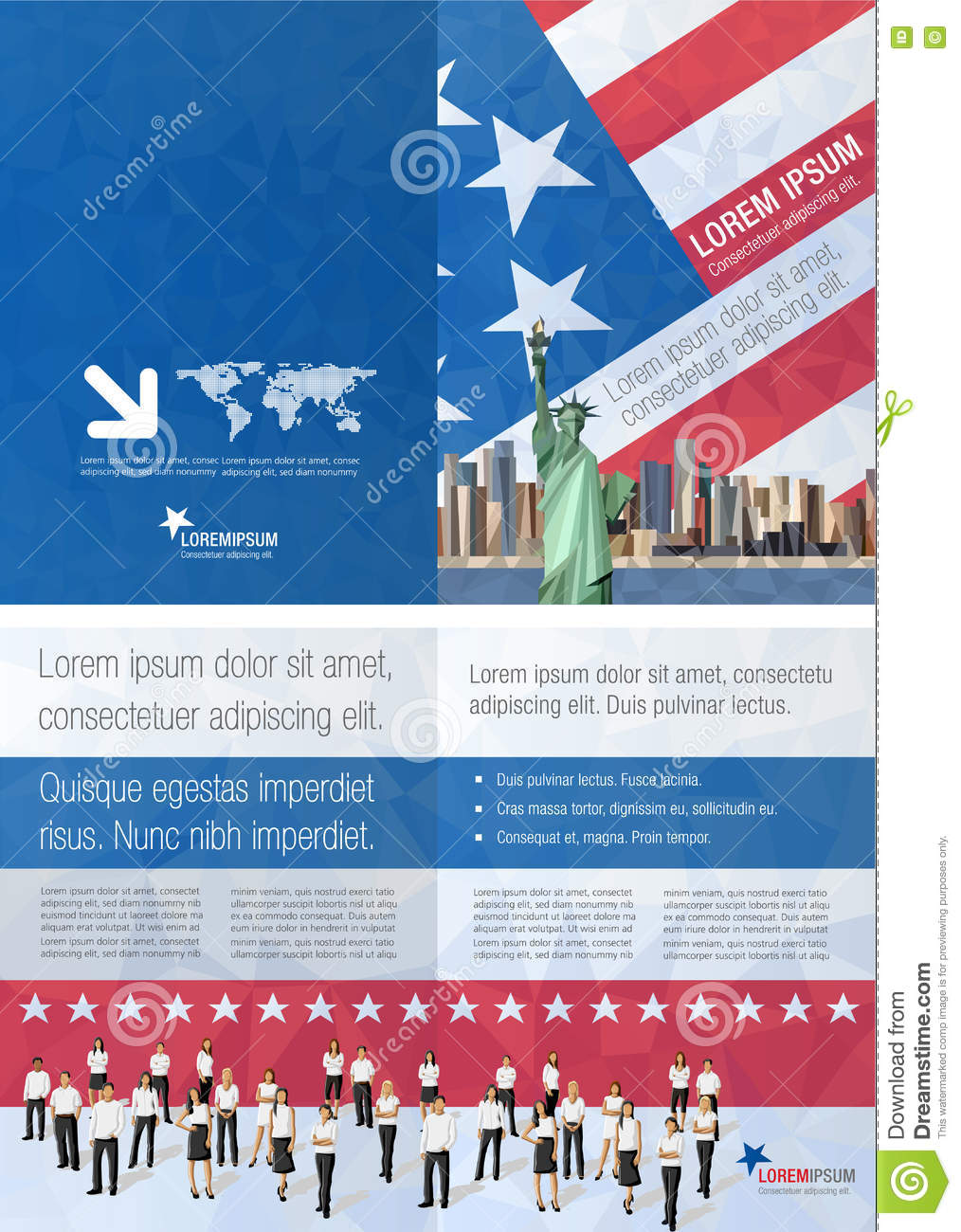 Brochure Clipart New York.