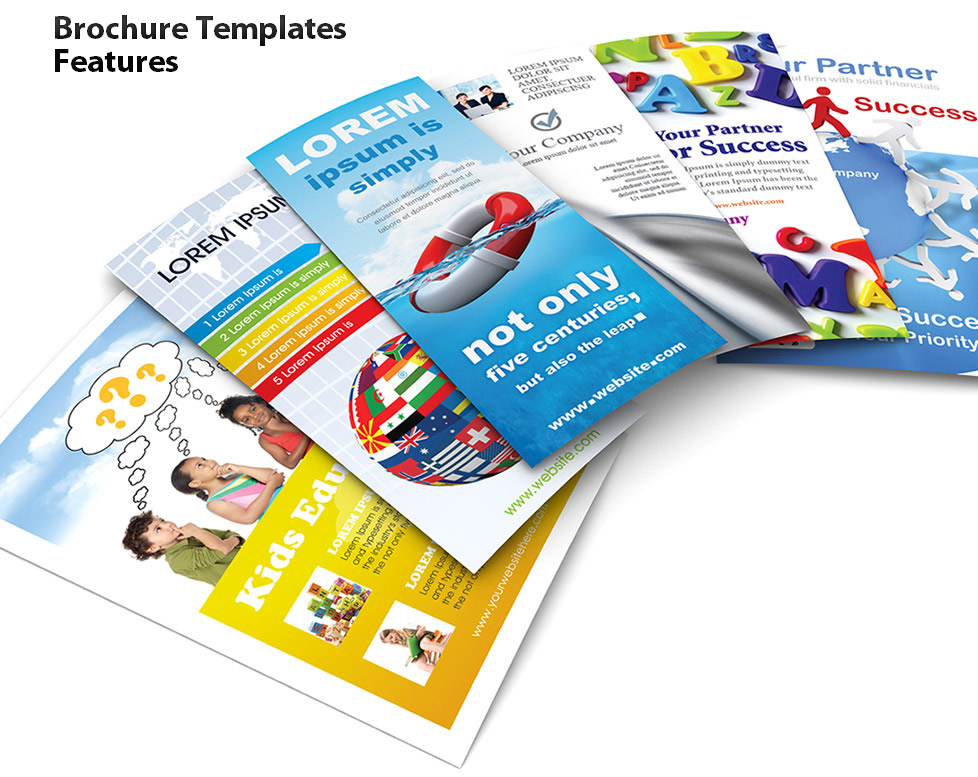 Brochure Templates Features.