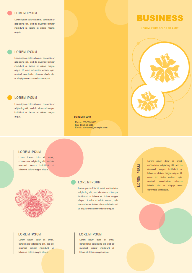 Free Yellow Background Brochure Templates.
