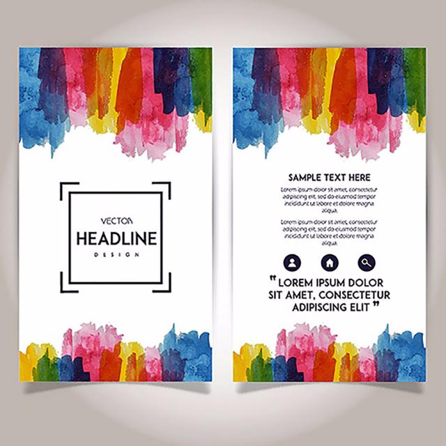 Hand Drawn Watercolor Brochure Template Design Template for Free.
